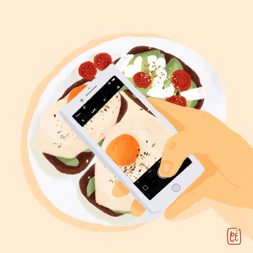 brunching, illustration