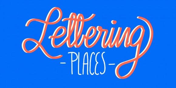 Lettering places