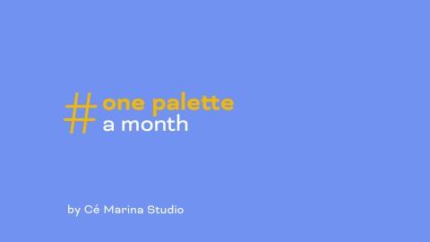 #onepaletteamonth: June 2020