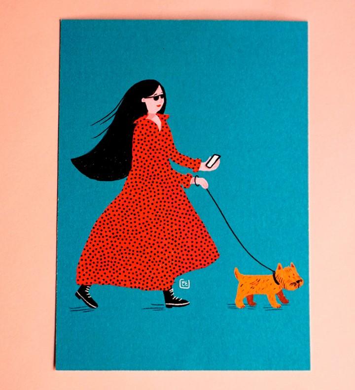 illustration postcard 3 pack Cé-Marina Shop