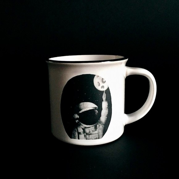 Illustrated mugs: The Traveller