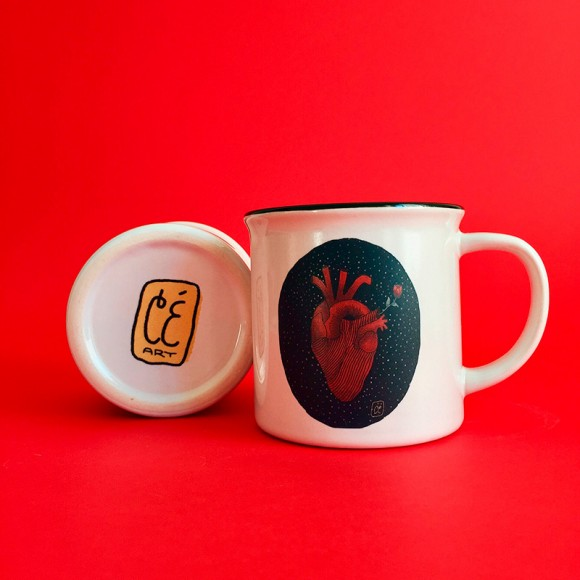 Illustrated mugs: will you be mine?